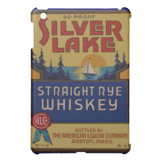 Silver Lake Whiskey Vintage Alcohol Art Label iPad Mini Cases