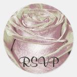 Silver/Lavender Rose Sticker