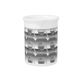 Silver Layered Circles Drink Pitchers