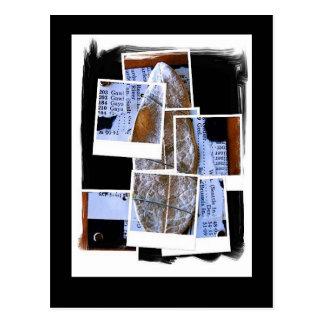 Silver Leaf Collage Postcard