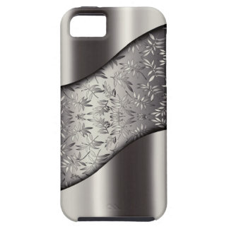 Silver Leaves Tech Mesh Chrome iPhone 5 Cover