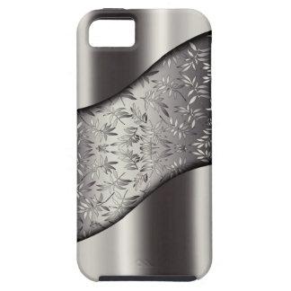 Silver Leaves Tech Mesh Chrome iPhone SE/5/5s Case