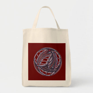Silver Leaves Tote Bag