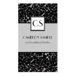 Silver Leopard Business Card Templates