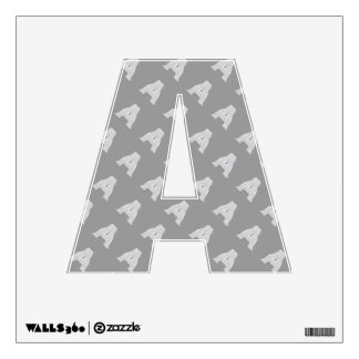 Silver Letter A Wall Sticker