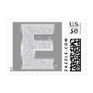 Silver Letter E Postage