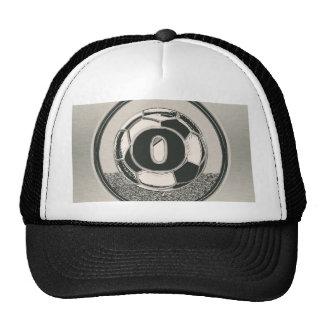 Silver Letter O Soccer Monogram Trucker Hat