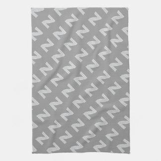 Silver Letter Z Towels