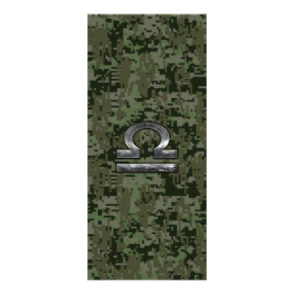 Silver Libra Zodiac Green Digital Camo Rack Card