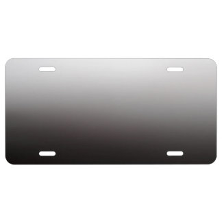 Silver Light Dark Shadow Metal License Plate