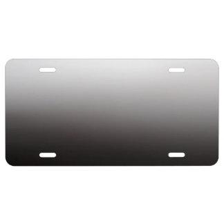 Silver Light Dark Shadow Metal License Plate