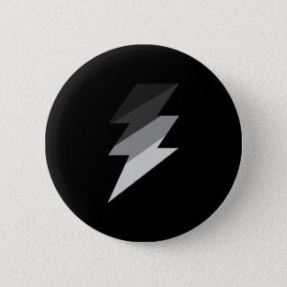 Silver Lightning Thunder Bolt Button