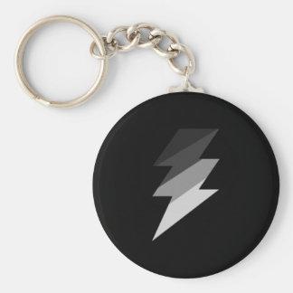 Silver Lightning Thunder Bolt Key Chain