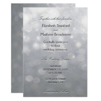Silver Lights and Glitter Card