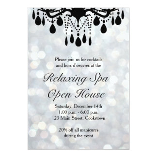 Silver Lights Open House 5x7 Paper Invitation Card