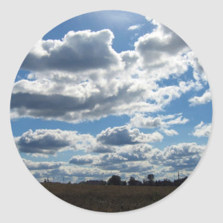 Silver Lining Clouds Sky Classic Round Sticker