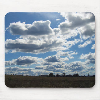 Silver Lining Clouds Sky Mouse Pad