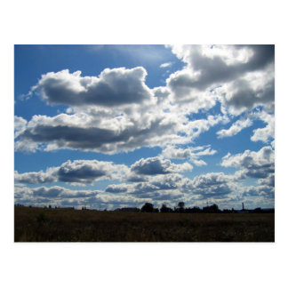 Silver Lining Clouds Sky Postcard