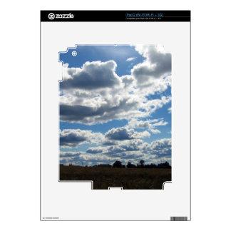 Silver Lining Clouds Sky iPad 2 Skin