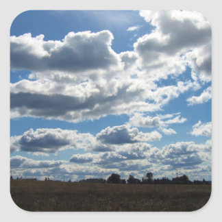 Silver Lining Clouds Sky Square Sticker
