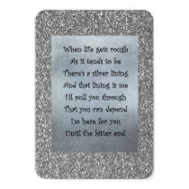 Silver lining keepsake card