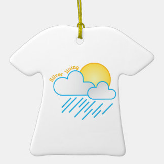 Silver Lining Double-Sided T-Shirt Ceramic Christmas Ornament