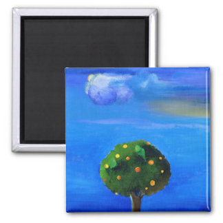 Silver Lining over the Orange Tree 2012 Magnet