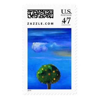 Silver Lining over the Orange Tree 2012 Postage