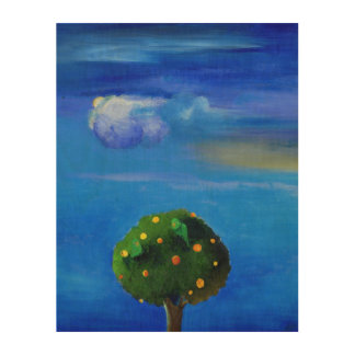 Silver Lining over the Orange Tree 2012 Wood Wall Decor