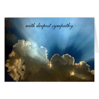 silver lining sympathy greeting cards