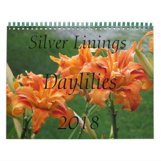 Silver Linings Daylilies Calendar - Medium