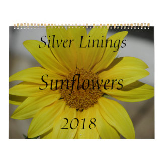 Silver Linings Sunflowers Calendar - Large