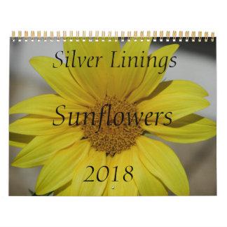 Silver Linings Sunflowers Calendar - Medium
