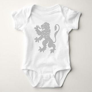 Silver Lion Rampant Baby Bodysuit
