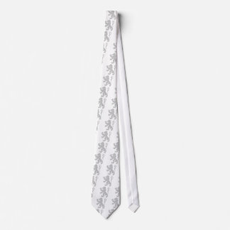 Silver Lion Rampant Tie