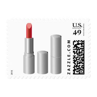 Silver Lipstick Makeup Gal Stamp