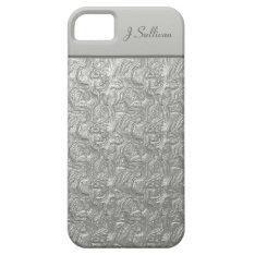 Silver Liquid Metal Effect Iphone 5 Case at Zazzle