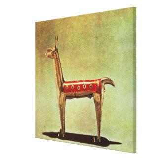 Silver Llama Figurine, from Peru, after 1438 Canvas Print