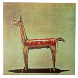 Silver Llama Figurine, from Peru, after 1438 Tile