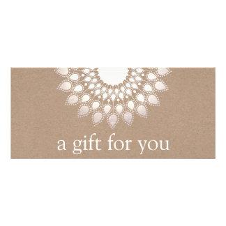 Silver Lotus Mandala Yoga and Meditation Rack Card