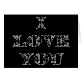 Silver Love Card