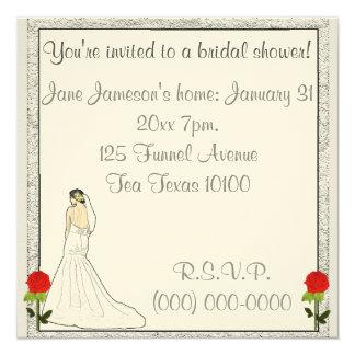 Silver love 5.25x5.25 square paper invitation card