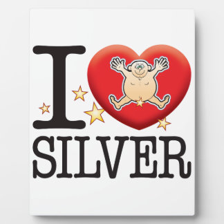 Silver Love Man Plaques