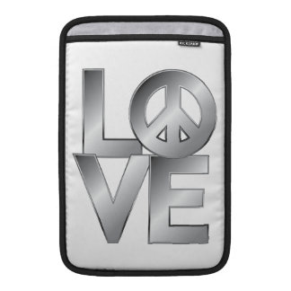 Silver LOVE=Peace Sleeves For MacBook Air