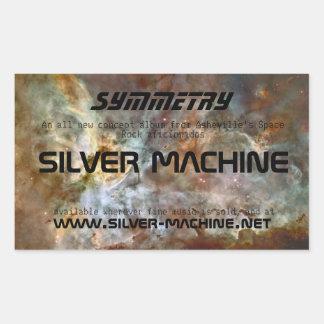 Silver Machine: Symmetry Rectangular Sticker