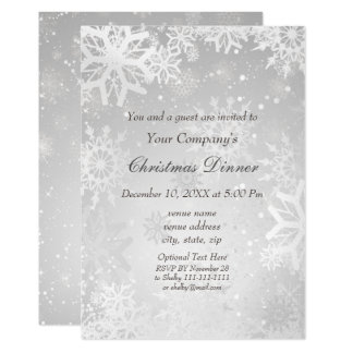 Silver Magical Holiday party Invite