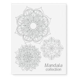 Silver Mandala Collection Temporary Tattoos