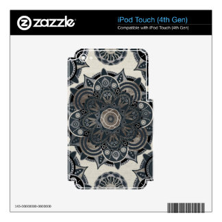 Silver mandala decal for iPod touch 4G