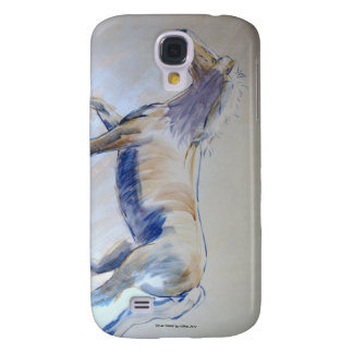 Silver Mane Horse Walking Acrylic Painting Samsung Galaxy S4 Cover