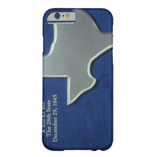 Silver Map of Texas Barely There iPhone 6 Case